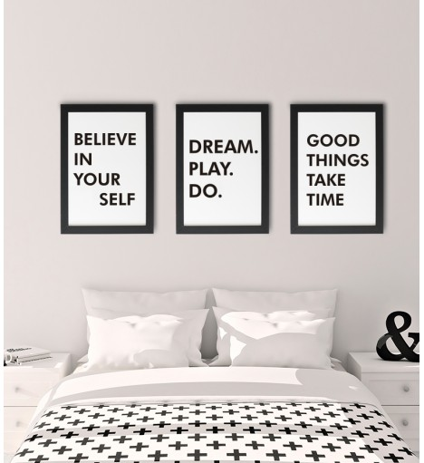 Quadros Believe In Yourself, Dream Play Do, Good Things Take Time