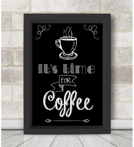 Poster decorativo Coffe Time c/ Moldura