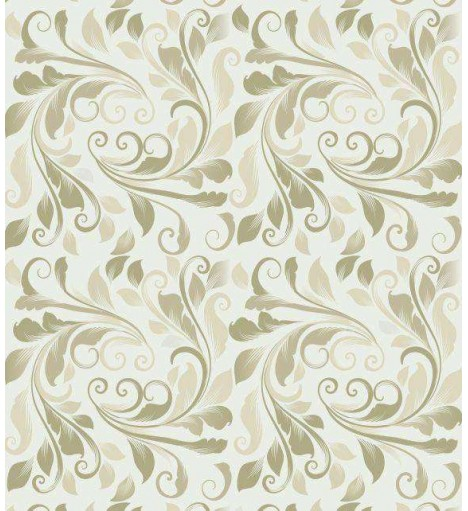 Papel de Parede Arabesco Ornamental verde musgo - Ornamental 05