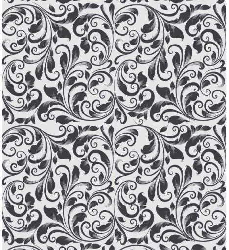 Papel de Parede Arabesco Ornamental verde musgo - Ornamental 06