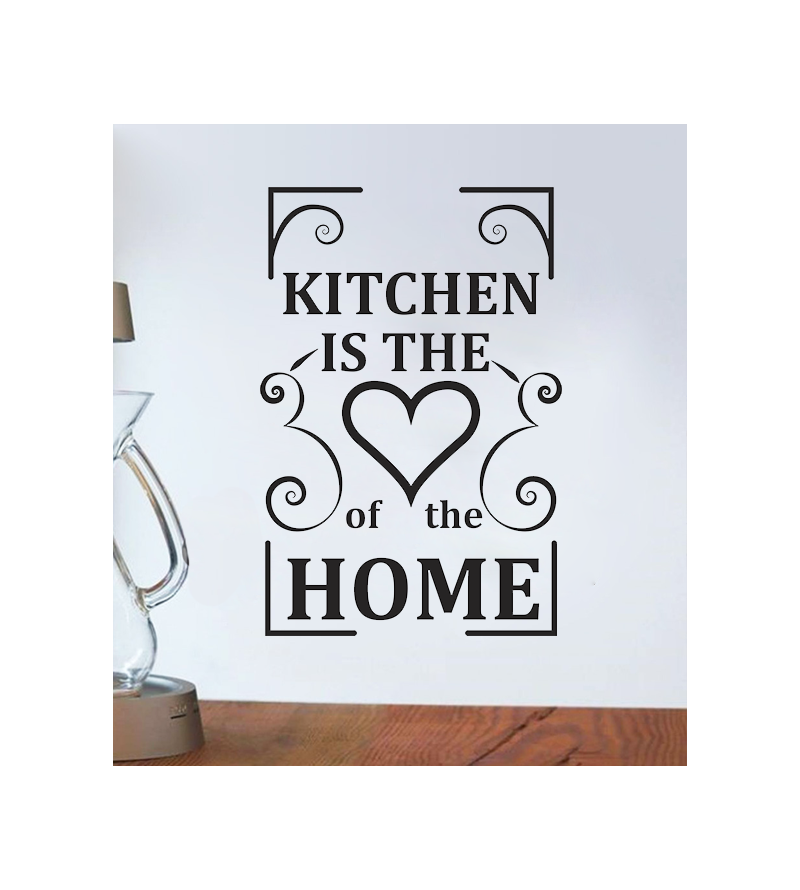 Adesivo de cozinha The Kitchen is the heart of the home