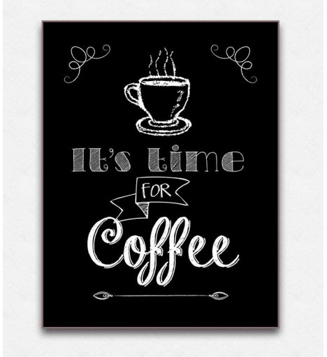Poster decorativo Coffe Time
