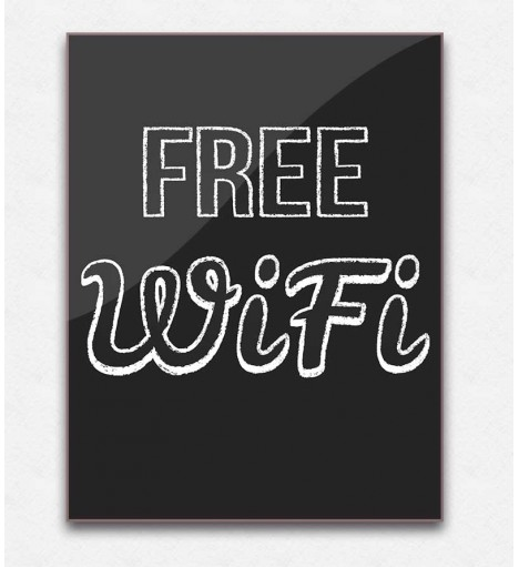 Poster decorativo Free Wifi