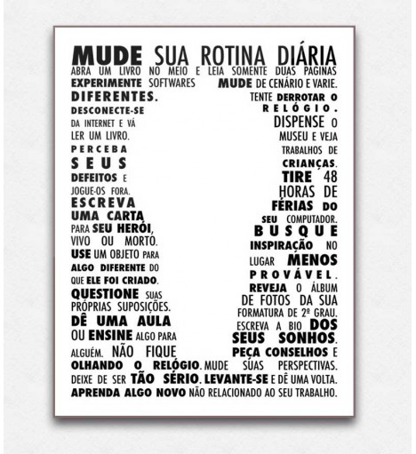 Poster decorativo Mude
