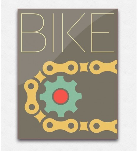 Poster Decorativo Bike