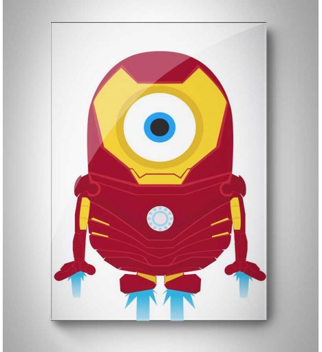 Quadro Decorativo Minion Tony Stark