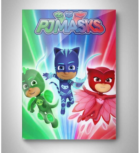 Quadro Decorativo PJ Masks Personagens