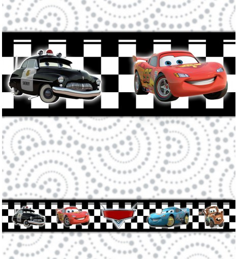 Border Disney Carros Quadriculado