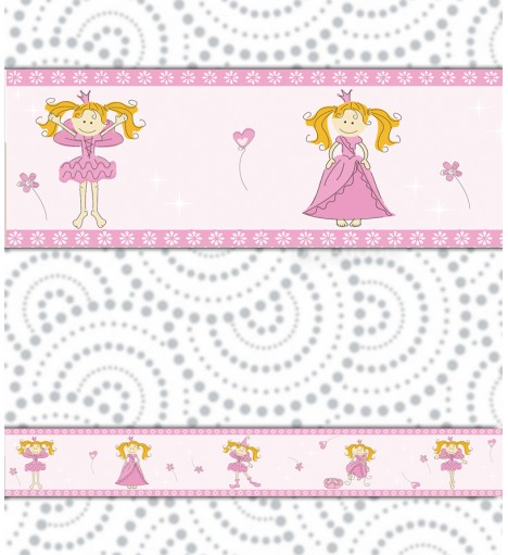 Border Boneca Rosa Cartoon