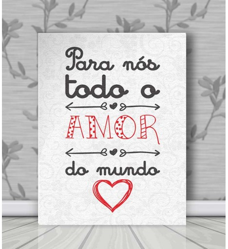 Poster decorativo Amor do Mundo